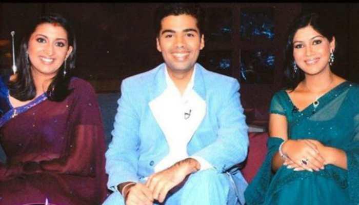 This week in Smriti Irani's Throwback Thursday post, Tulsi and Parvati smile with Karan Johar