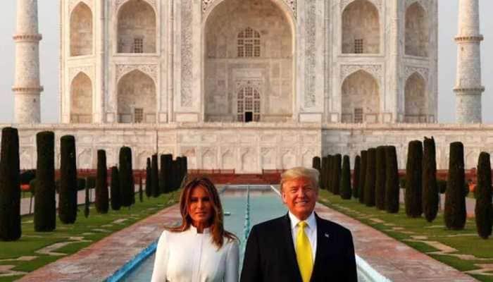 POTUS and FLOTUS at Taj Mahal, Melania tweets image with Donald Trump