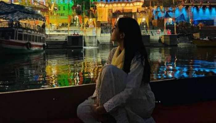 Sara Ali Khan attends Ganga Aarti in Varanasi, shares pics from her divine sojourn