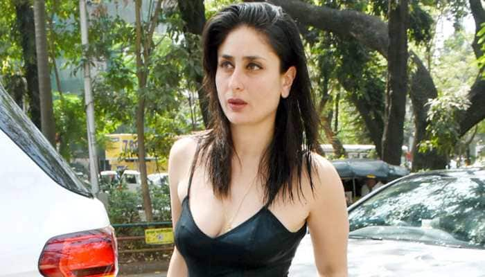 Kareena Kapoor Khan oozes oomph in a black spaghetti top and denims - In Pics
