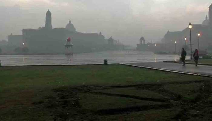 Heavy rainfall lashes parts of Delhi-NCR; temperature dips to 14.4 degrees celsius