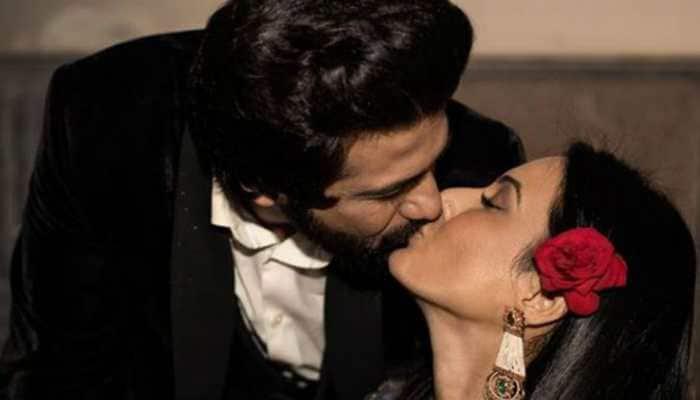 Kamya Panjabi and husband Shalabh Dang seal it with a kiss on one month anniversary