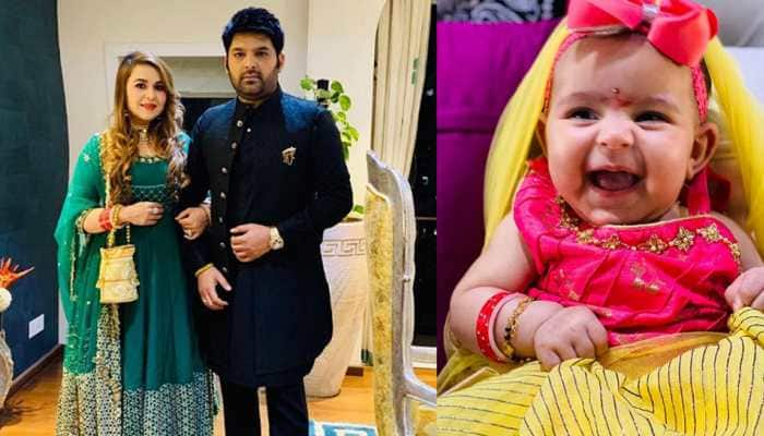 Entertainment News: On Durga Ashtami, Kapil Sharma shares adorable pics of daughter Anayra from her first Kanjak puja
