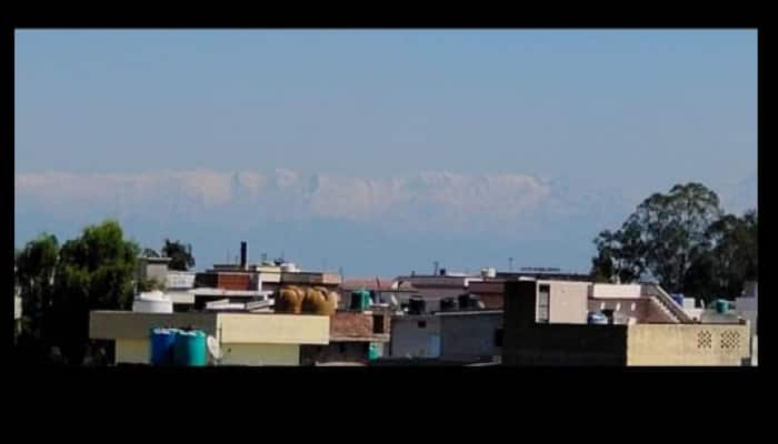 Jalandhar residents enjoy beauty of snowy mountains amid coronavirus COVID-19 lockdown