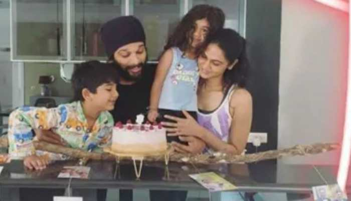 Inside Allu Arjun's birthday celebrations with wife Sneha and kids Ayaan, Arha  - Pics