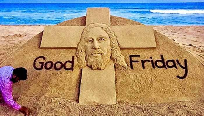 On Good Friday, Sudarsan Pattnaik's sand art highlights 'stay home stay safe' policy- See inside