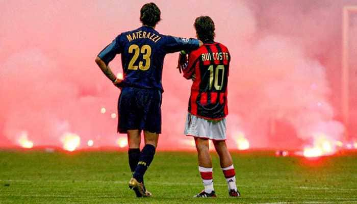 Remembering one of football's iconic moments from an ill-tempered Milan derby in 2005