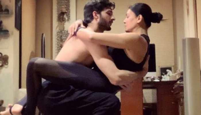 Entertainment News: Sushmita Sen's yoga video makes boyfriend Rohman Shawl feel 'lucky' - Watch