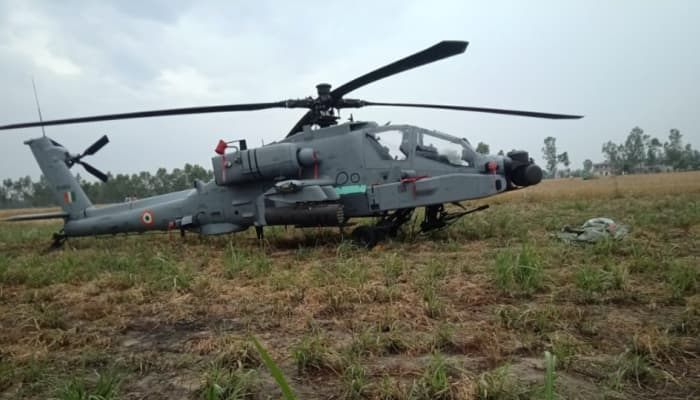 Indian Air Force AH-64 Apache helicopter makes emergency landing in Punjab's Hoshiarpur