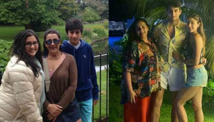 Sara Ali Khan's then and now pic with mother Amrita Singh and brother Ibrahim is all about loving your family