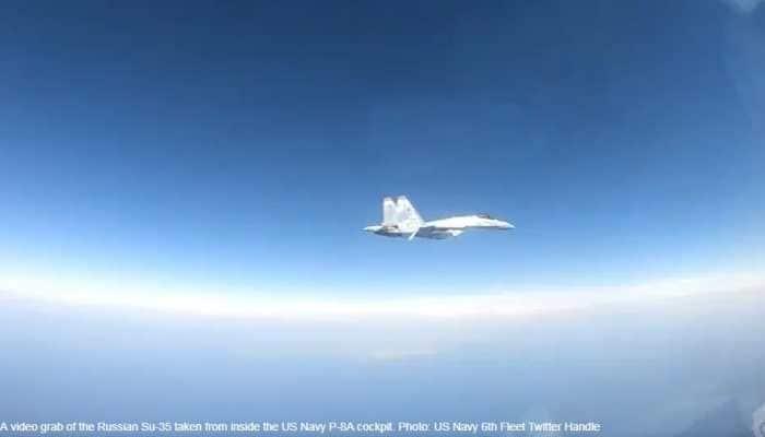 Russian Sukhoi Su-35 intercepts US P-8A warplane over Mediterranean Sea, flies just 25 feet apart: Watch