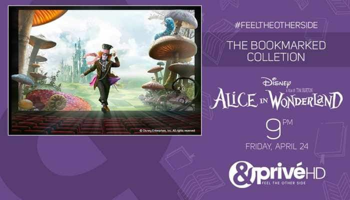 Venture into the mystical world of 'Alice In Wonderland' with 'The Bookmarked Collection' on &PrivéHD