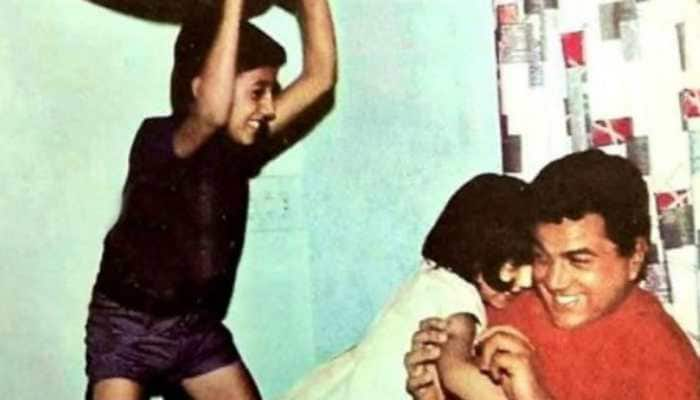 Sunny Deol's old is gold pic with Dharmendra is every bit frame-worthy