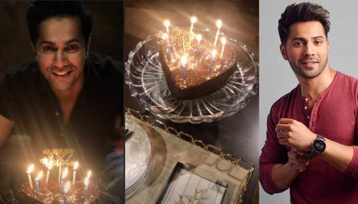 Varun Dhawan cuts heart-shaped cake at home on 33rd birthday