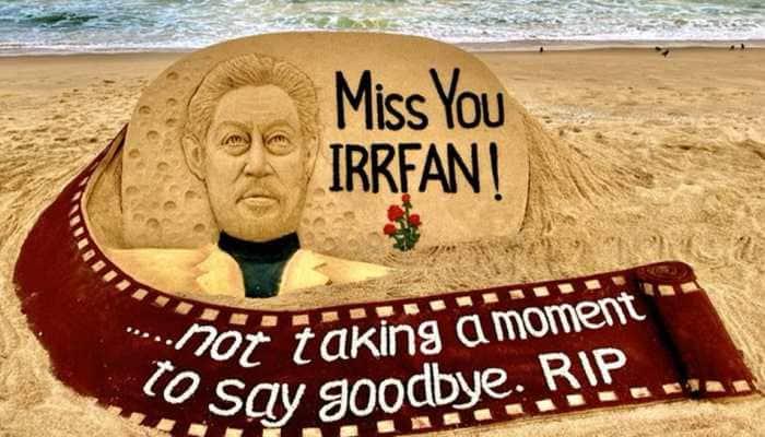 Sudarsan Pattnaik's heartfelt sand-art tribute to Irrfan Khan will make your eyes moist!