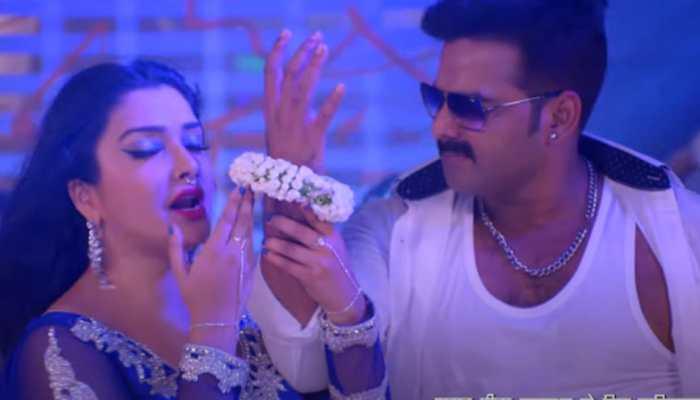 Bhojpuri sensational actors Pawan Singh-Aamrapali Dubey's 'Dusar Duwaar' song sets YouTube on fire - Watch