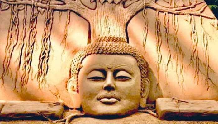 On Buddha Purnima, Sudarsan Pattnaik's Buddha sand art depicts peace, serenity - Pics