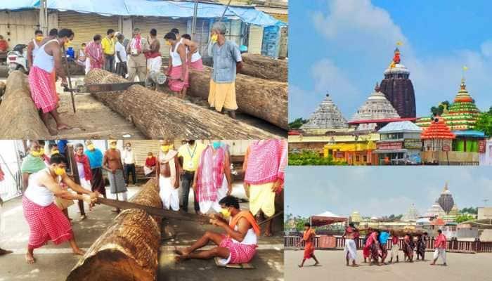 Jagannath Puri Rath Yatra 2020: Chariots' construction work begins amid lockdown- In pics