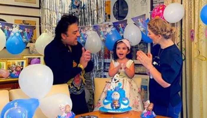 Inside Adnan Sami's daughter Medina's Frozen-themed birthday party at home
