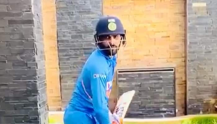 Ravindra Jadeja performs his signature sword celebration, once again asks fans to stay home