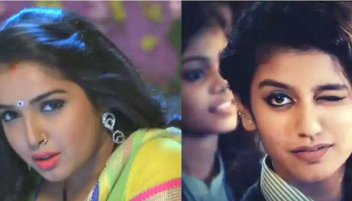 When Bhojpuri sizzler Aamrapali Dubey's wink took over Priya Prakash Varrier's spotlight