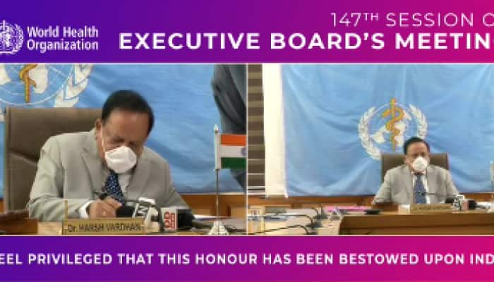 Harsh Vardhan takes charge as WHO Executive Board chairman, calls for shared response to fight COVID-19
