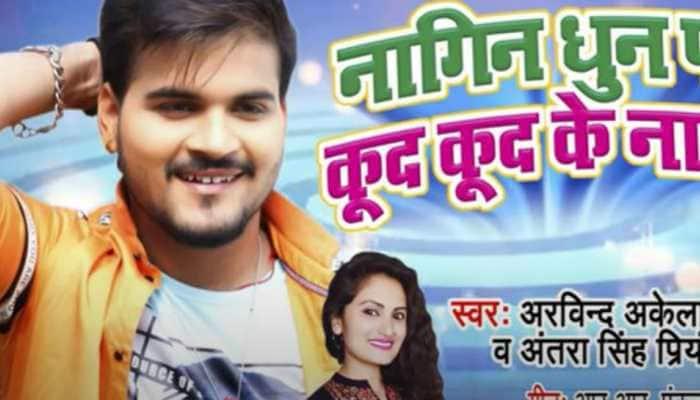 Arvind Akela Kallu's peppy Bhojpuri track 'Nagin Dhun Pa Kud Kud Ke Nachab' is sure to rule the playlist