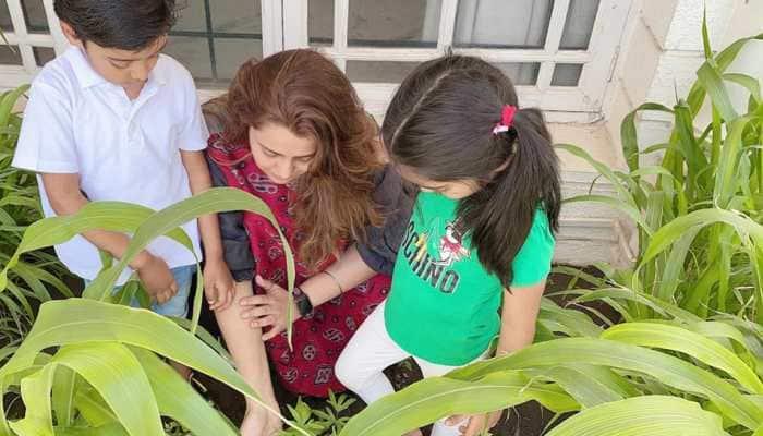 Deepshikha Deshmukh introduces her kids to organic farming amid lockdown