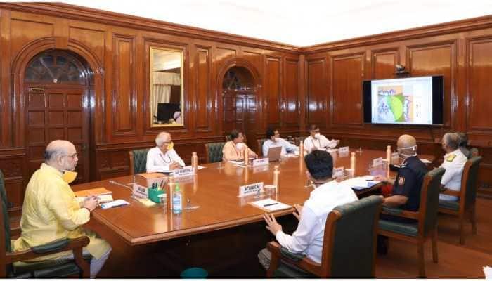 Amit Shah meets NDMA, NDRF, IMD, Indian Coast Guard on Cyclone Nisarga