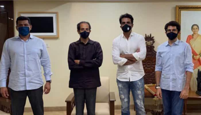After Sanjay Raut's 'Mahatma' Sonu Sood dig, actor meets Maharashtra CM Uddhav Thackeray