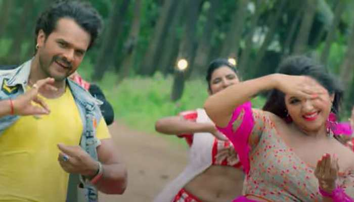 Bhojpuri siren Kajal Raghwani and Khesari Lal Yadav's mind-blowing moves in 'Daal De Kewadi Mein Killi' creates a storm online