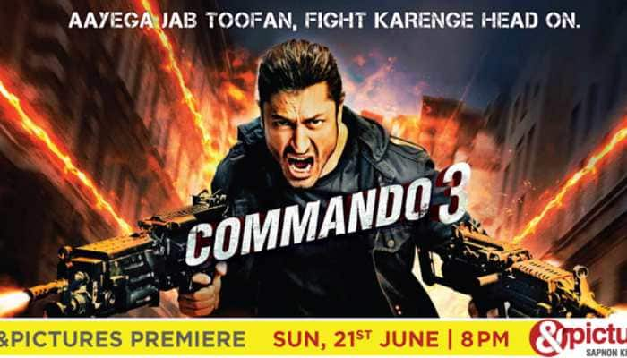 Watch fearless Vidyut Jammwal fight the face of terror in &pictures premiere of Commando 3