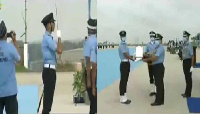 IAF gets 123 officers, Flying Officer Anurag Naik awarded Sword of Honour, Flying Officer Aanchal Gangwal President's Plaque