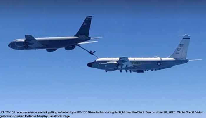 Russian Sukhoi Su-30 intercepts US P-8 Poseidon, RC-135 reconnaissance plane, KC-135 Stratotanker over Black Sea