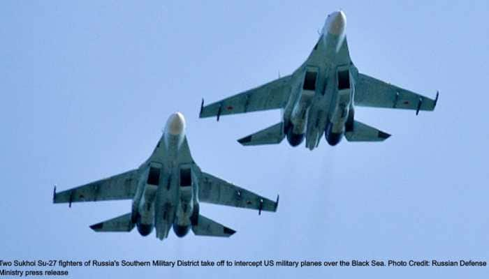 Russia launches Sukhoi Su-27 fighters as US P-8A Poseidon, RC-135 spy planes fly over Black Sea