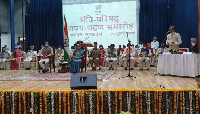 Yashodhara Raje Scindia, Gopal Bhargava, 26 others take oath as ministers in Madhya Pradesh cabinet expansion