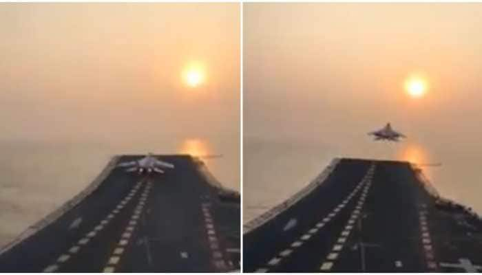 No aim too high: MiG-29K takes off from INS Vikramaditya - Watch
