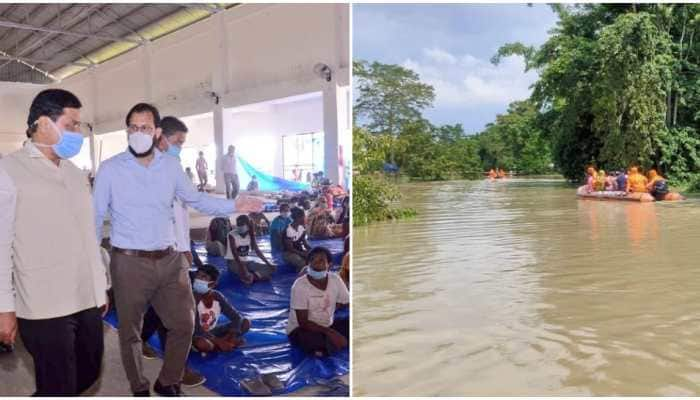 Assam floods: Nearly 22 lakh people in 27 districts affected, CM Sarbananda Sonowal visits relief camps
