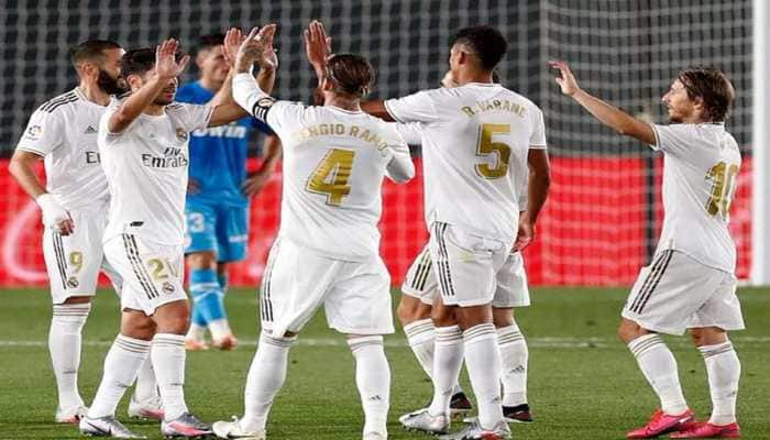 La Liga: Newly-crowned champion Real Madrid draw final game to send Leganes down