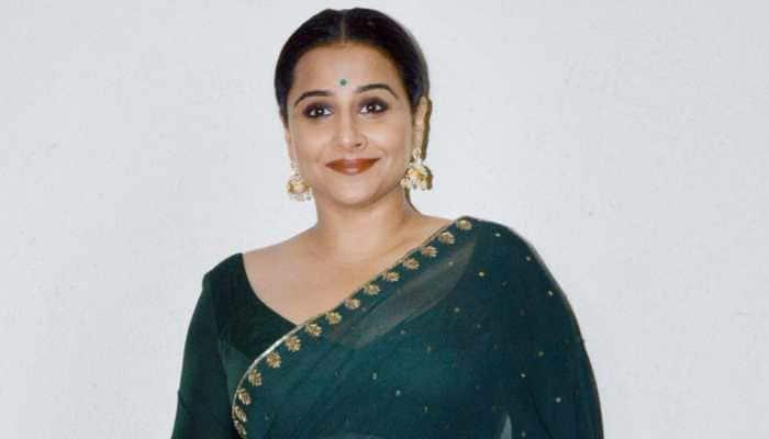 Vidya Balan dons saree with mathematical equations for 'Shakuntala Devi' e-promotions