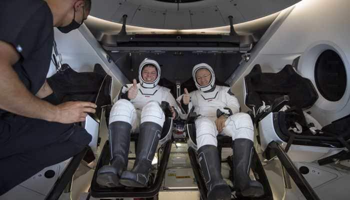 SpaceX Crew Dragon capsule with two NASA astronauts makes splashdown in Florida
