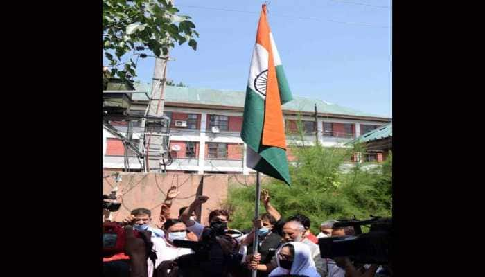 BJP hoists Tricolour, celebrates first anniversary of abrogation of Article 370 in J&K