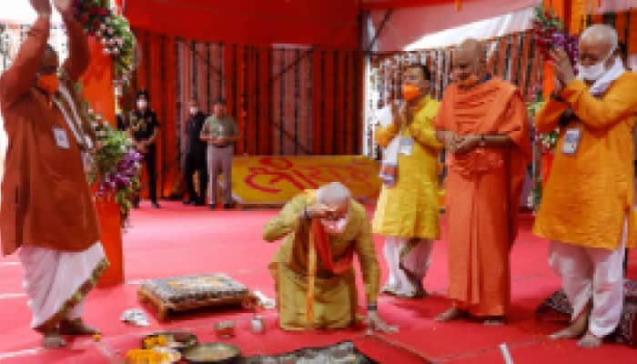 PM Narendra Modi lays foundation of new India with Bhoomi Pujan of Ram temple in Ayodhya