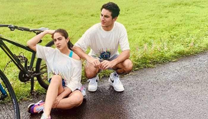 Sara Ali Khan and brother Ibrahim Ali Khan bond post Rakhi and the twinning pics are too cool to be missed!