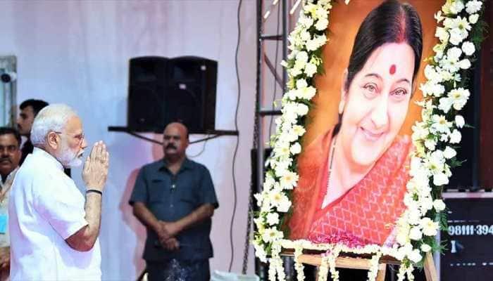 PM Narendra Modi pays tribute to Sushma Swaraj on her death anniversary