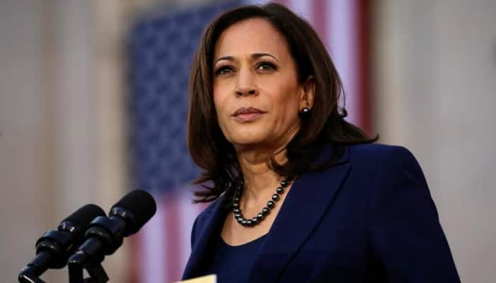Kamala Harris promises jobs, fight climate change and affordable care act as part of Joe Biden administration