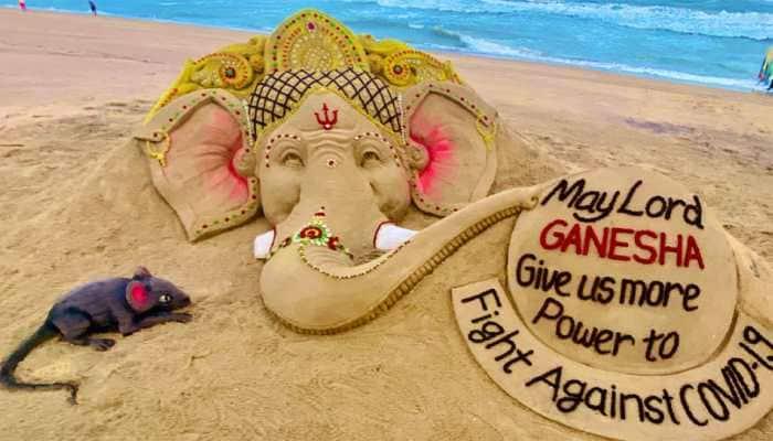 On Ganesh Chaturthi, Sudarsan Pattnaik's sand art shows need of 'power' and 'blessings' from Lord Ganpati amid coronavirus COVID-19 crisis