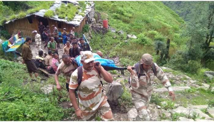 ITBP troops rescue woman from remote village of Uttarakhand's Pithoragarh, carry her on stretcher for 15 hrs