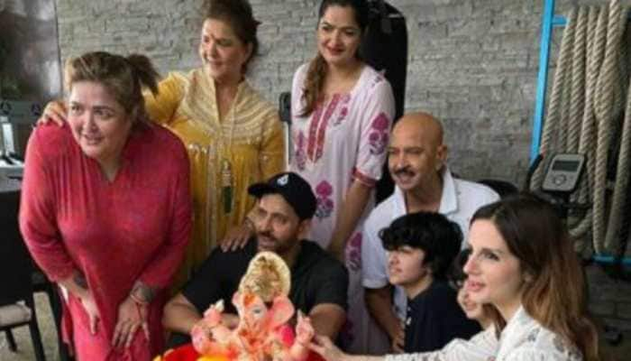 Ganesh Chaturthi 2020: Hrithik Roshan, Sussanne Khan take part in visarjan with family, see pics