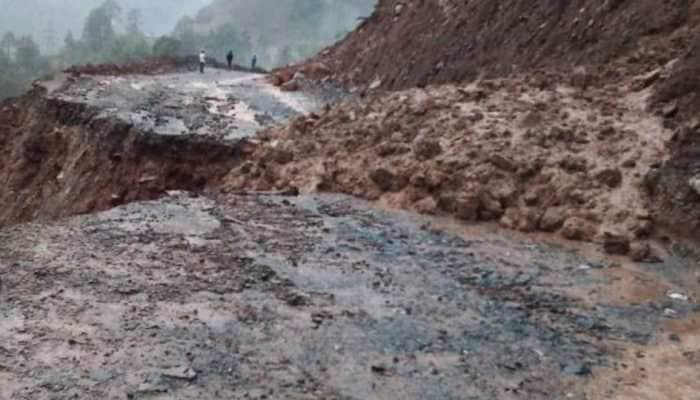 Jammu-Srinagar National Highway blocked due to landslide in Ramban district